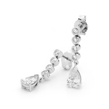 Pear drop diamond earrings by Stelios Jewellers in Perth