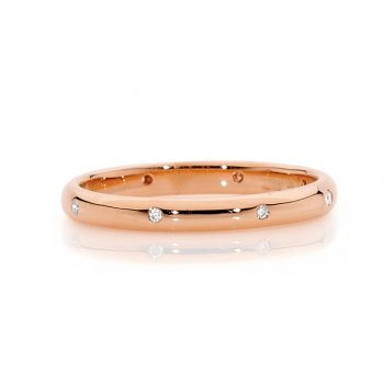 Rose gold diamond band by Stelios Jewellers in Perth