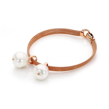 Rose gold Bracelet with Pearl charms by Stelios Jewellers in Perth