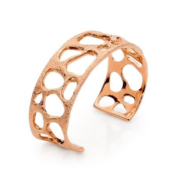 Black diamond and Rose Gold bangle by Stelios Jewellers in Perth