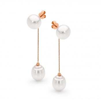 Australian South Sea pearl drop earrings by Stelios Jewellers in Perth