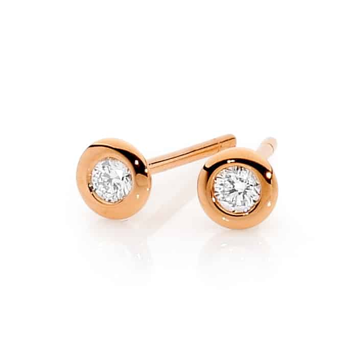 Round Brilliant Diamond earrings by Stelios Jewellers in Perth