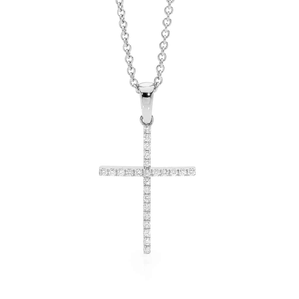 White Gold diamond cross by Stelios Jewellers in Perth