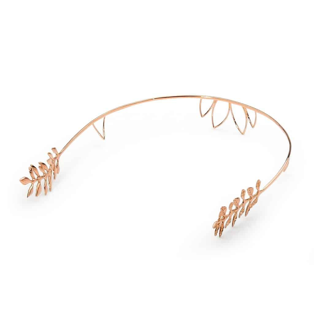 Rose gold olive head piece by Stelios Jewellers in Perth
