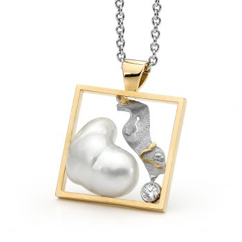 Australian South Sea pearl and diamond pendant by Stelios Jewellers in Perth