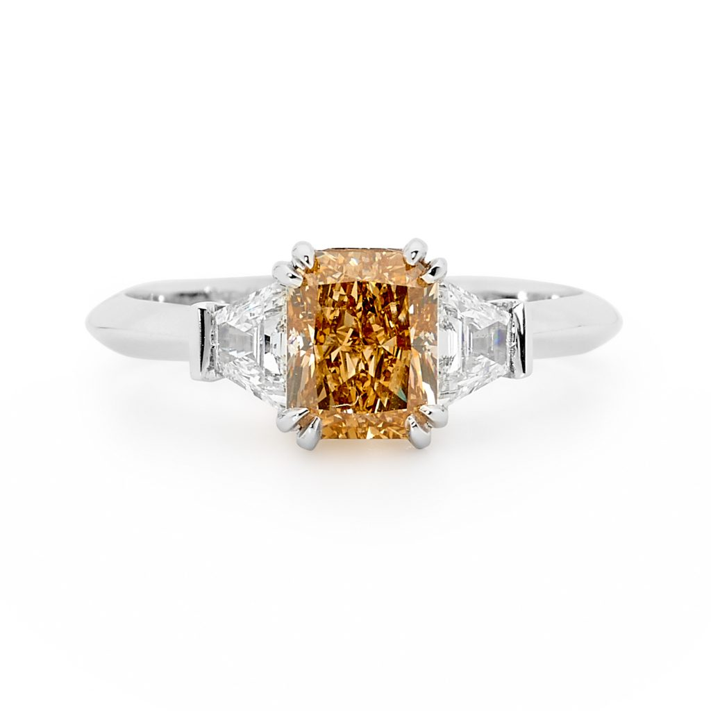 Fancy Yellow Diamond Ring by Stelios Jewellers in Perth