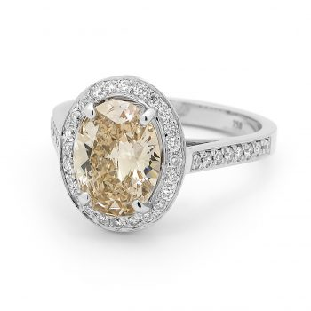 Champagne Diamond Ring by Stelios Jewellers in Perth