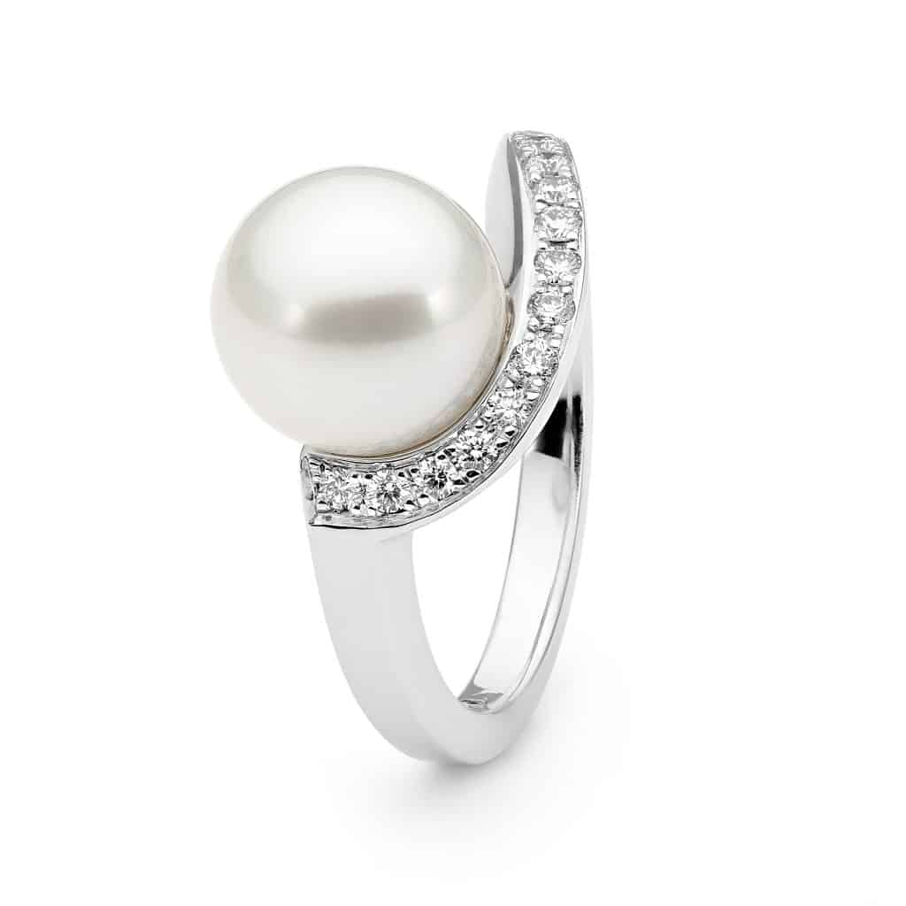 Australian South Sea pearl and diamond ring By Stelios Jewellers in Perth