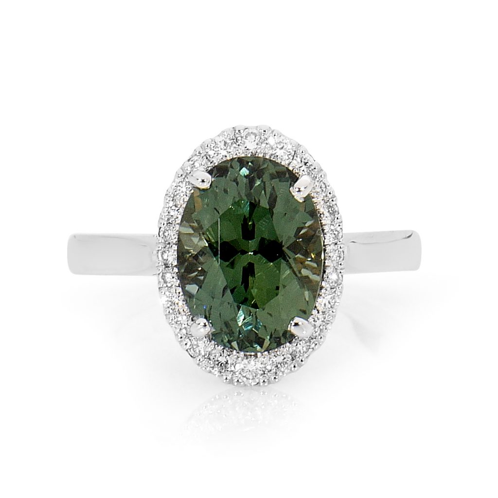 Green Sapphire Ring by Stelios Jewellers in Perth