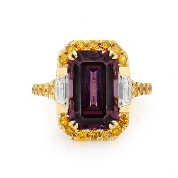 Natural Purple Spinel Ring by Stelios Jewellers in Perth