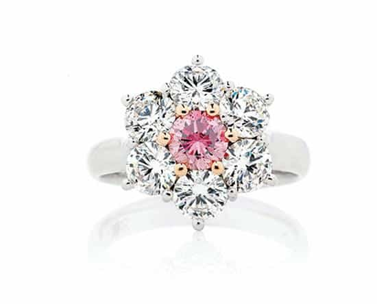 Diamond Ring with Natural Fancy Coloured Diamonds by Stelios Jewellers in Perth