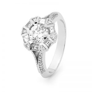 diamond engagement ring By Stelios Jewellers in Perth