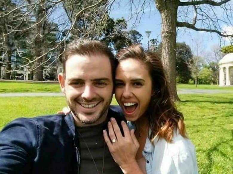 Christopher Marchesi‍ and fiancee. Clients of Stelios Jewellers in Perth