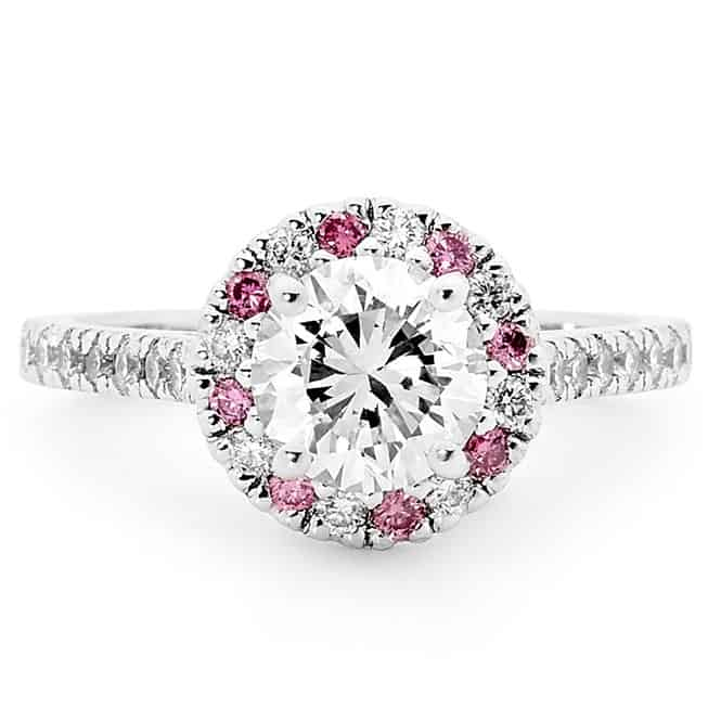 argyle pink diamond engagement ring